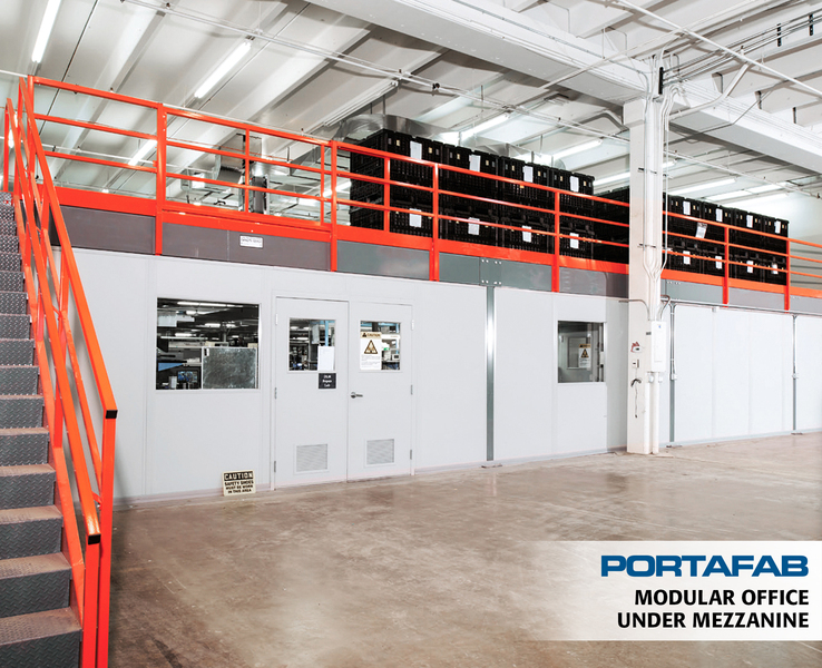 Build A Mezzanine Storage : Portafab modular building photo galleries