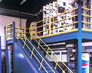 Storage Deck on Mezzanine - PortaFab