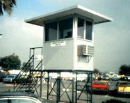 Exterior Watch Tower & Security Booth on Mezzanine - PortaFab