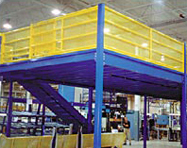 Work Platform on Mezzanine - PortaFab