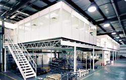 PortaFab Inplant Offices | Office on Mezzanine